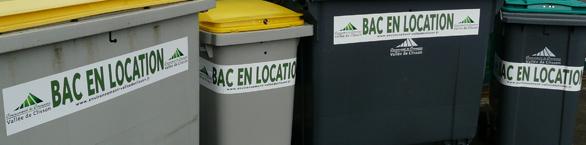 Bacs en location